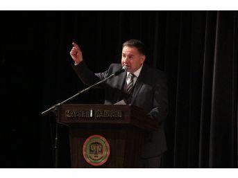 """Baro Başkanı Dursun: """"hukukun Namusunu Ve Onurunu Savunmakla Mükellefiz"""""""
