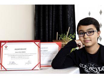 Eyüpsultan'ın Genç Dahisi Utku Firidin'e Tübitak'tan Birincilik Ödülü