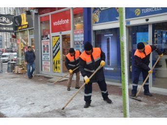 Ereğli Belediyesinden Kar Yağışına Erken Müdahale