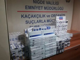 Niğde'de Kaçak Sigara Satıcısı 2 Kişi Tutuklandı