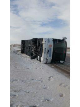 Kayseri - Malatya Karayolunda 3. Otobüs Kazası: 3 Yaralı