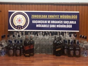 Zonguldak'ta Kaçak İçki Operasyonu; 2 Gözaltı