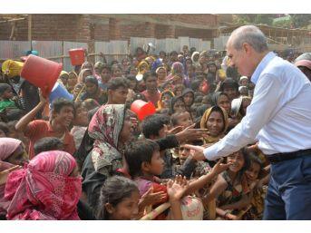 Bakan Kurtulmuş, Bangladeş'te Arakanlı Müslümanların Kaldığı Kampları Ziyaret Etti