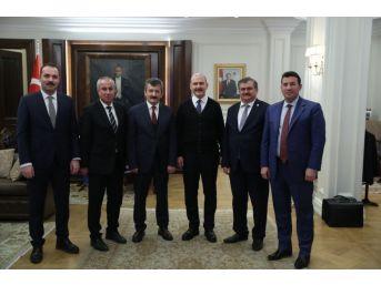 Çaturoğlu Zonguldak'ın Taleplerini İçişleri Bakanı Soylu'ya İletti