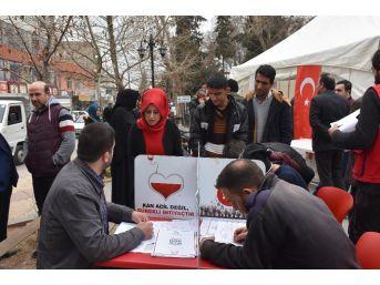 Kahta'da Kan Ve Kök Hücre Bağışı Kampanyasına Yoğun İlgi