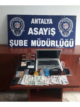 Antalya'da Evden Hırsızlığa 2 Tutuklama