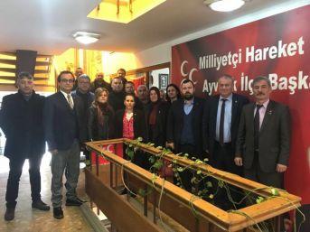 Ak Parti Ayvalık İlçe Başkanlığı'ndan Mhp'nin Yeni İlçe Yönetimine Ziyaret