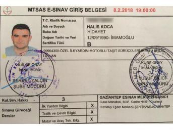 Şehit Asker Ehliyet Sınavına Başvurmuş
