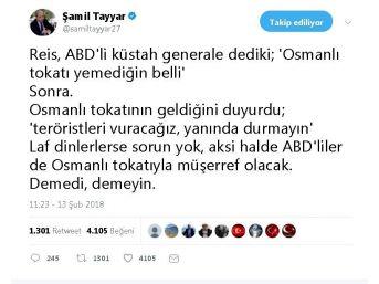 Şamil Tayyar'dan, Erdoğan'ın
