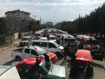 Servis Şoförlerinden Afrin'e Destek