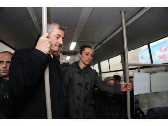 Tahmazoğlu, Halk Otobüsü İle Yolculuk Yaptı