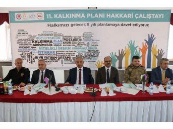 Hakkari'de Daka 11. Kalkınma Planı İl İstişare Toplantısı