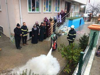 Belediye'den Yangın Eğitimi Tatbikatı