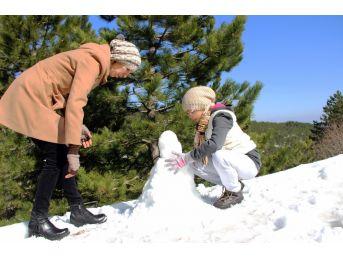 Muğla'da Bir Günde Hem Kar Hem De Deniz Keyfi