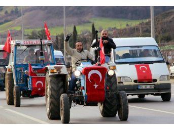 Traktörlerle Askerlik Şubesine Gelip Afrin'e Gitmek İstediler