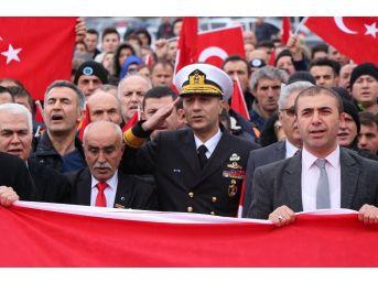Kdz. Ereğli'de Binlerce Kişi Afrin Şehitleri İçin Yürüdü