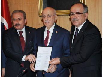 İttifak Teklifi Tbmm Başkanı İsmail Kahraman'a Sunuldu