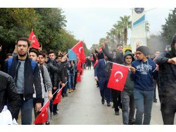 Antalya'da Ülkücü Gençler, Fırat Yılmaz Çakıroğlu İçin Yürüdü