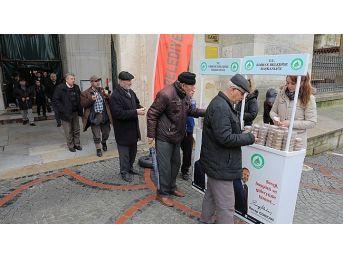 Edirne'de Afrin Şehitleri İçin Helva Dağıtıldı