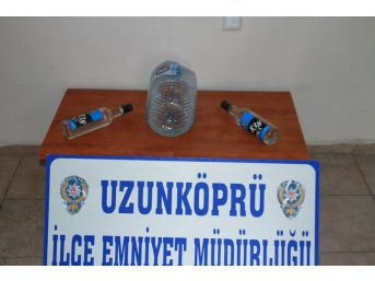 Edirne'de Kaçak İçki Operasyonu