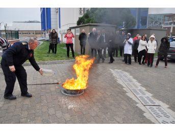 Gençlik Hizmetleri Müdürlüğü Çalışanlarına Temel Yangın Eğitimi