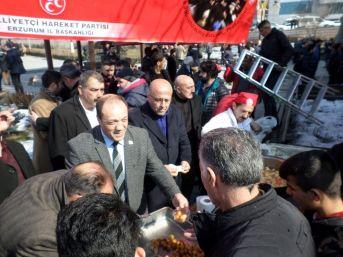 Milliyetçi Hareket Partisi Erzurum İl Başkanlığı Afrin Ve Tüm Vatan Şehitleri İçin Fatiha'da Buluştu.