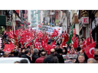 Giresun'da Vatandaşlar 'zeytin Dalı Harekatı' İçin Yürüdü