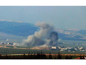 Afrin'in Cinderes Kasabasına Yoğun Hava Bombardımanı