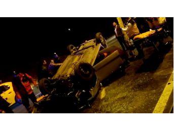 (özel Haber) Beykoz'da Otomobil Takla Attı: 2 Yaralı