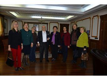 Yardım Sevenler Derneği Kırşehir Şubesi,vali Necati Şentürk'ü Ziyaret Etti