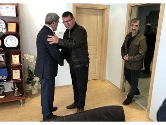 Seçimlerini Bitiren Oda Başkanlarından Akcan'a Ziyaret