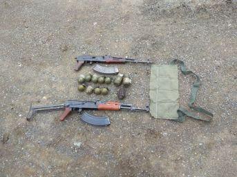 Şırnak'ta Silah Ve El Bombası Ele Geçirildi