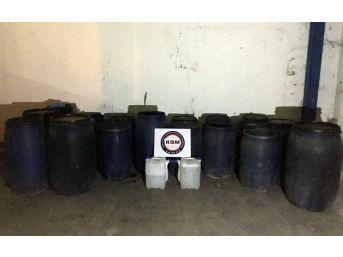 Mersin'de Bin 720 Litre Sahte İçki Ele Geçirildi