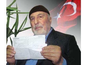 Emekli Gurbetçi, Bir Aylık Maaşını Kahraman Mehmetçik İçin Bağışladı