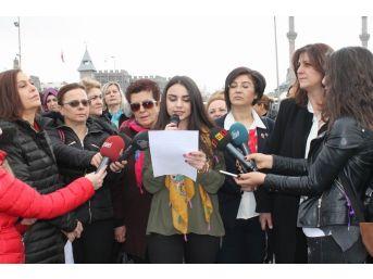 Kayseri'de Kadınlar 8 Mart İçin Alanlardaydı