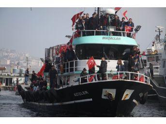 Mehmetçik İçin Denize Açıldılar