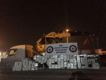 Adana'da Vinçte 6 Bin Paket Kaçak Sigara Ele Geçirildi