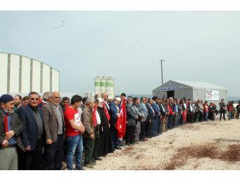 Afrin Şehitleri İçin Sınırda Gıyabi Cenaze Namazı Kılındı