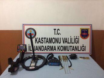 Kastamonu'da Kaçak Kazı Yapan 3 Kişi Gözaltına Alındı