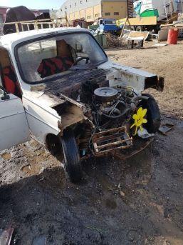 Hurdacı Otomobili Parçalarken Yangın Çıktı
