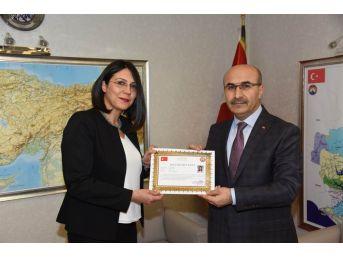 """""""güney Adana Kalkınma Programı'' Ekibine Başarı Belgesi"""