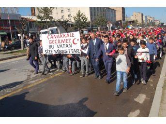 Güroymak'ta 'şehitlere Saygı' Yürüyüşü