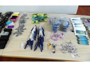 Kaçak Sigara Üretilen Ev Ve Kapıcı Dairesine Polis Baskını