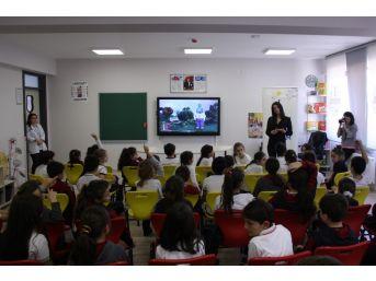 Öğrencilere Camın Geri Dönüşümü Eğitimi