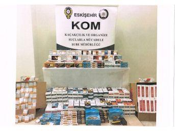 Polis, 4 Bin 398 Paket Kaçak Sigara Ve 424 Kilo Tütün Ele Geçirdi