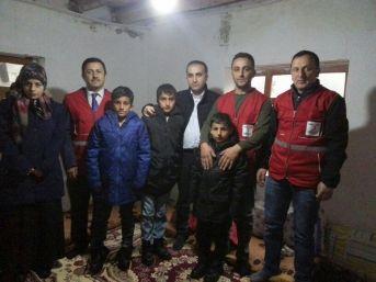 Kızılay, 5 Nüfuslu Aileye Kucak Açtı