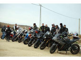 Motosikletçiler 'zeytin Dalına Destek İçin Yola Çıktı