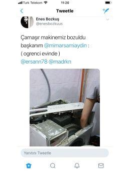 Başkandan Çamaşır Makinesi İstediler