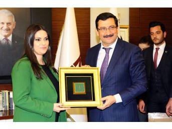 Bakanı Sarıeroğlu, Keçiören Belediye Başkanı Ak'ı Makamında Ziyaret Etti