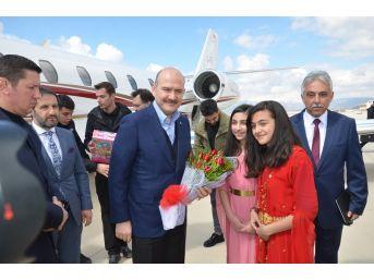 İçişleri Bakanı Süleyman Soylu Yüksekova'ya Geldi